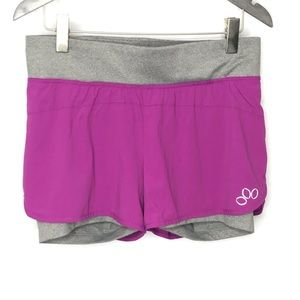 REI Purple/ Gray Over Shorts